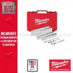 """MILWAUKEE 1/4"""" Racsnis dugókulcs készlet metrikus és colos méret (50 részes)"""