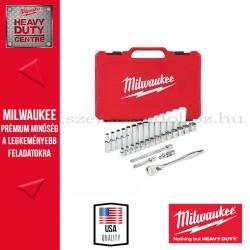 """MILWAUKEE 3/8"""" Racsnis dugókulcs készlet metrikus méret (32 részes)"""