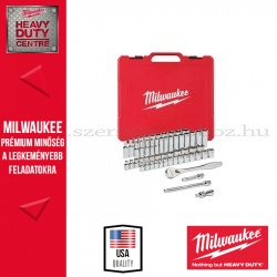 """MILWAUKEE 3/8"""" Racsnis dugókulcs készlet metrikus és colos méret (56 részes)"""