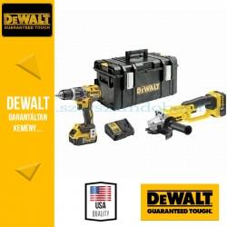 DEWALT DCK209P2-QW 18V szénkefementes akkus gépcsomag (DCD796 fúró-csavarozó + DCG412 sarokcsiszoló)