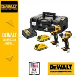 DEWALT DCK2061D2T-QW 18V akkus gépcsomag (DCD708 fúró-csavarozó + DCF809 ütvecsavarozó)