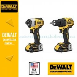 DEWALT DCK2062D2T-QW 18V akkus gépcsomag (DCD708 fúró-csavarozó + DCDF09 ütvecsavarozó)
