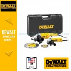 DEWALT DWE492SDT-QS 2 gépes sarokcsiszoló szett (DWE492 sarokcsiszoló 230mm + DWE4207 sarokcsiszoló 125mm)