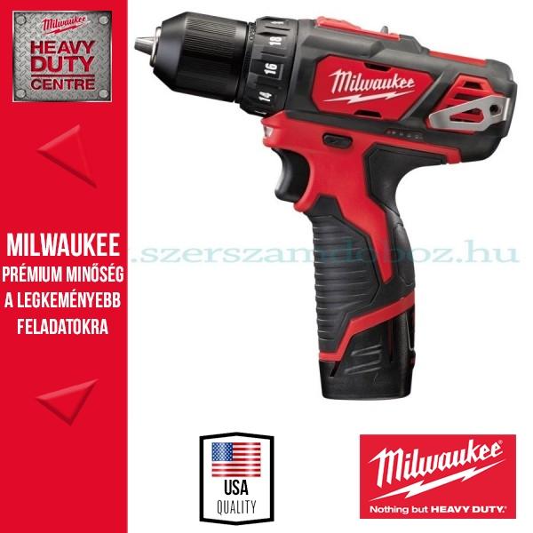Milwaukee M12 BDD-202C Akkus fúró-csavarozó + LED lámpa