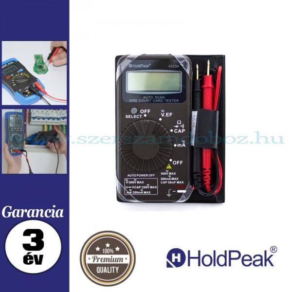 HOLDPEAK 4203A digitális zseb multiméter