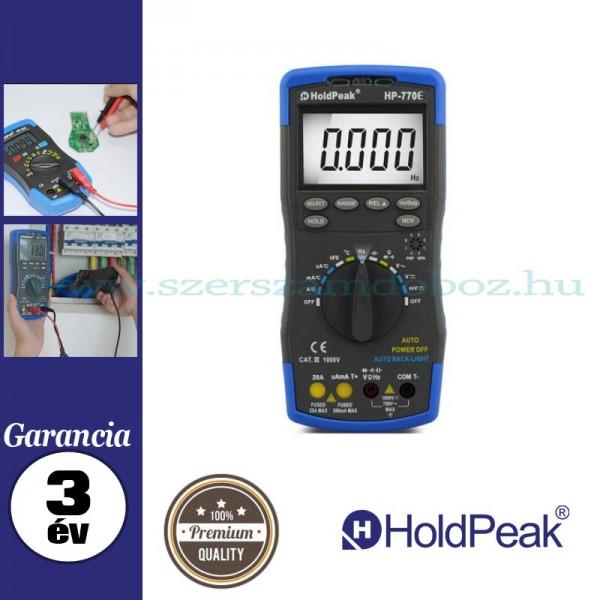 HOLDPEAK 770E precíziós multiméter