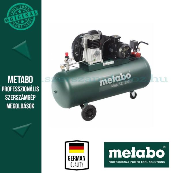 Metabo Mega 520-200 D  Kompresszor 380Volt 3 fázis