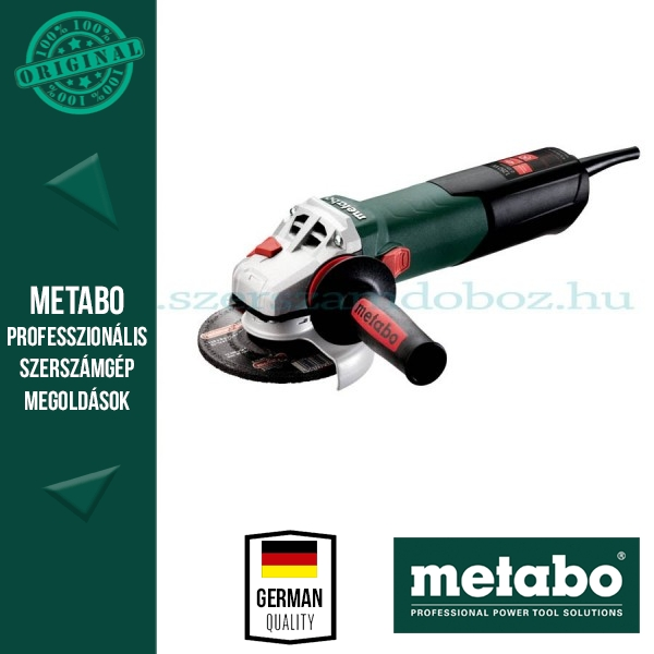 "Metabo W 12-125 Quick Sarokcsiszoló ""Autobalancer"""