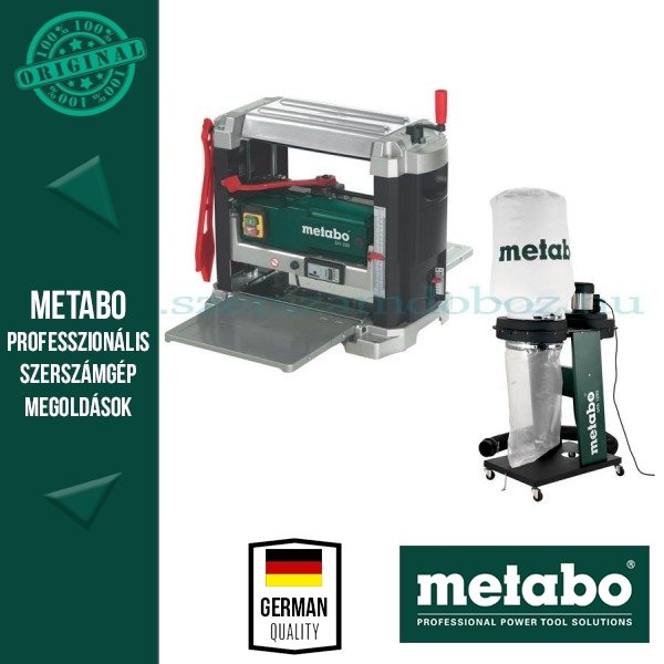 Metabo DH 330 vastagoló gyalu + SPA 1200 elszívó