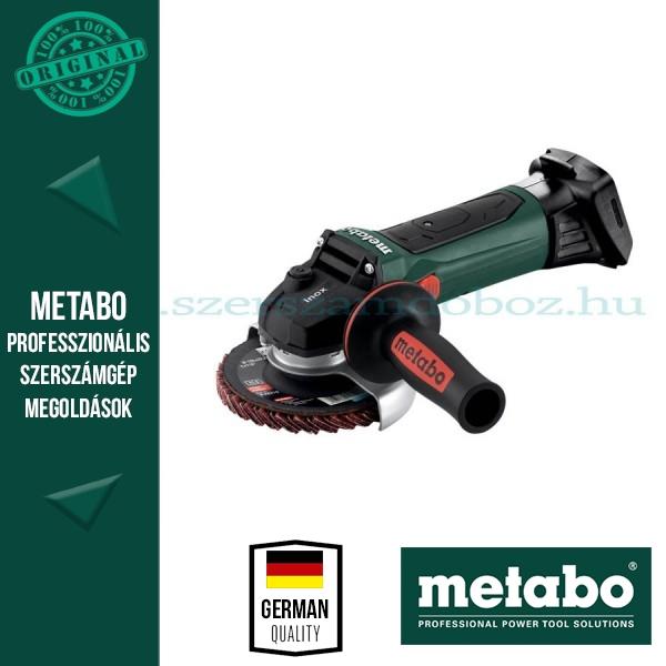 Metabo W 18 LTX 125 Quick Inox Akkus sarokcsiszoló (alapgép)