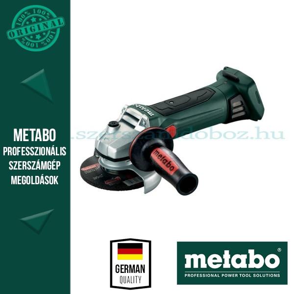 Metabo W 18 LTX 125 Akkus sarokcsiszoló (alapgép)