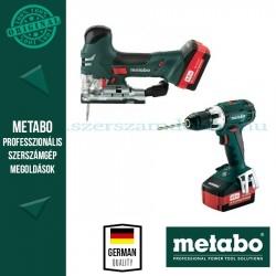 Metabo ComboSet 18V akkus ütvefúró-csavarbehajtó + szúrófűrész