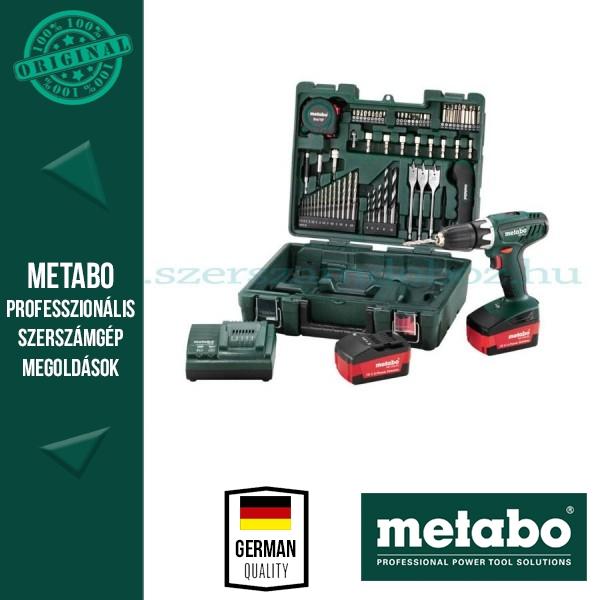 Metabo BS 18   Li Akkus fúró-csavarozó+ szerszámkészlet