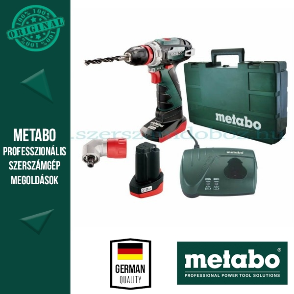Metabo akkus fúrócsavarozó PowerMaxx BS Quick Pro