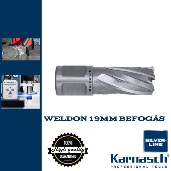 Karnasch Hss-Xe koronafúró Weldon 19mm | 50/85mm hossz SILVER LINE