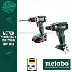 Metabo akkus gépcsomag (BS18 L BL Q akkus fúrócsavarozó + SSW18 LTX400 BL ütvecsavarozó)