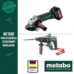 Metabo 18V akkus gépcsomag (W 18 LTX 125 Quick sarokcsiszoló + KHA 18 LTX kombikalapács)