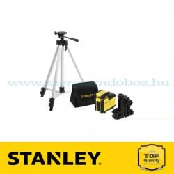 Stanley SLL360 Keresztlézer, Tripod, Táska – Zöld