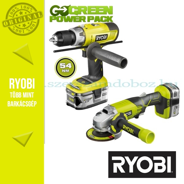 Ryobi LCDI1802M Akkus ütvefúró-csavarozó + R18AG sarokcsiszoló