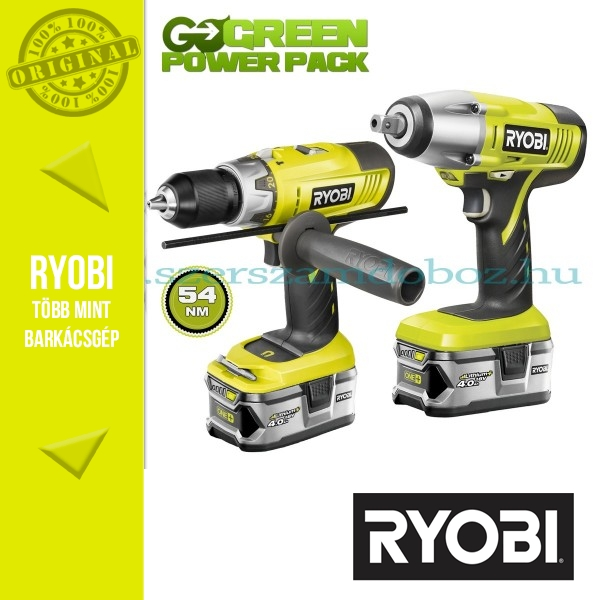 Ryobi LCDI1802M Kétsebességes ütvefúró-csavarozó + BIW180M ütvecsavarozó