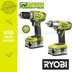 Ryobi RCD1802M Akkus fúró-csavarozó 18V + BIW180M ütvecsavarbehajtó