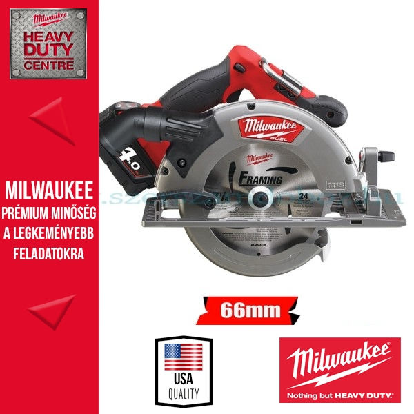 Milwaukee M18 CCS66-402C Akkus körfűrész