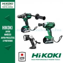 Hitachi (HiKOKI) KCS2018 akkus gépszett (WR18DSDL ütvecsavarozó+DV18DBL2 ütvefúró+UB18DAL lámpa)