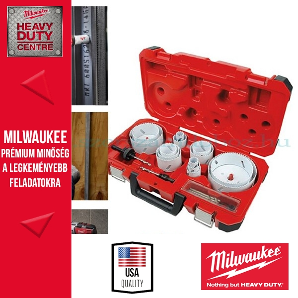 "Milwaukee ""HOLE-DOZER"" dobozfúró készlet 17 darab"