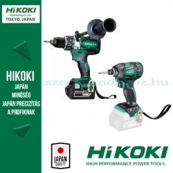 Hitachi (HiKOKI) Akkus Gépcsomag (DS18DBL2-5AH fúrócsavarozó + WH18DBDL2-BASIC fúró-ütvecsavarozó)