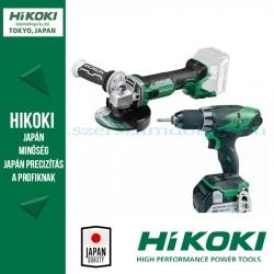 Hitachi (HiKOKI) Akkus Gépcsomag (DS18DJL-3AH fúró-csavarozó + G18DBBVL-BASIC-125 sarokcsiszoló)