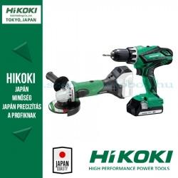 Hitachi (HiKOKI) Akkus Gépcsomag (DS18DJL-KARTON fúró-csavarozó + G18DSL-BASIC sarokcsiszoló)
