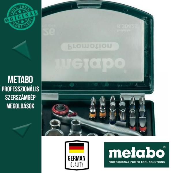 Metabo Bit- és racsniskészlet 26 részes