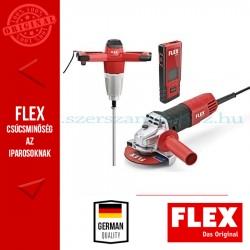 Flex burkoló csomag (MXE 1000 WR2 keverő + ADM 30 lézeres távolságmérő + L 810 sarokcsiszoló)