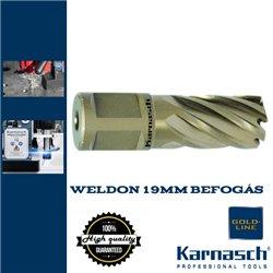 Karnasch Hss-Xe magfúró WELDON 19mm | 25/60mm hossz GOLD LINE-30