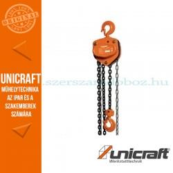 Unicraft K 3001 mechanikus láncos emelő csörlő 3t