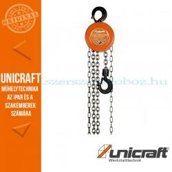Unicraft K 1000 mechanikus láncos emelő csörlő 1t