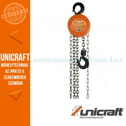 Unicraft K 3000 mechanikus láncos emelő csörlő 3t