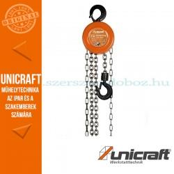 Unicraft K 5000 mechanikus láncos emelő csörlő 5t