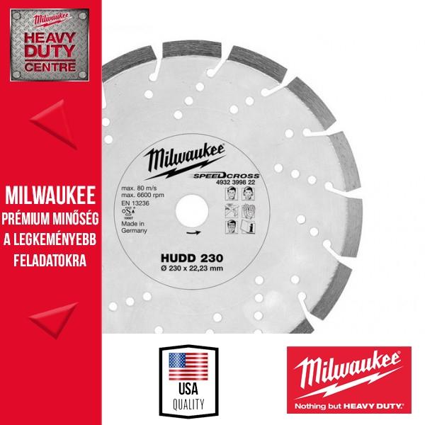 Milwaukee HUDD 230 Speedcross Gyémánttárcsa