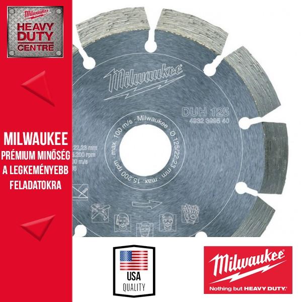 Milwaukee DUH 125 Gyémánt vágótárcsa