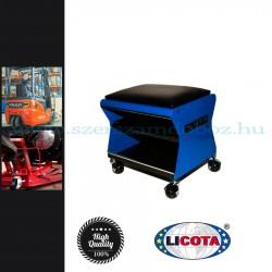 Licota Tools Szerelőszék, 4 kerékkel, szerszámtartó polccal