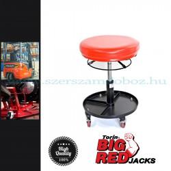 Torin Szerelőszék, forgó ülőrész, állítható magasság + szerszámtartó tálca