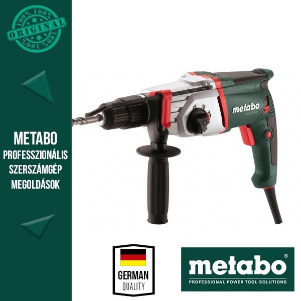 Metabo KHE 2650 Fúró-vésőkalapács + 4 részes SDS-plus készlet