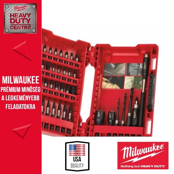 """Milwaukee """"SHOCKWAVE"""" 40db-os csavarbehajtó bit készlet"""