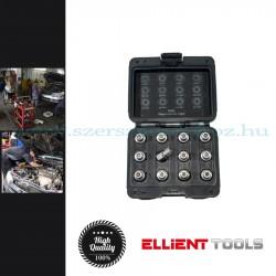 Ellient Tools Kerékőr/anyacsavar leszedő készlet, vag, lyukas ribe típusú, 12darabos