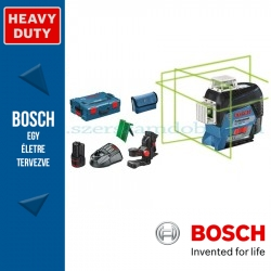 BOSCH GLL 3-80 CG Akkus zöld vonallézer+BM1+ L-boxx+LR7 vevőegység