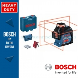 BOSCH GLL 3-80 Vonallézer kofferben+LR6 vevőegység