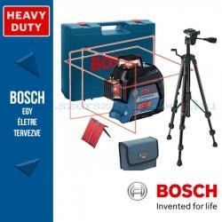 BOSCH GLL 3-80 Vonallézer kofferben + BT 150 állvány