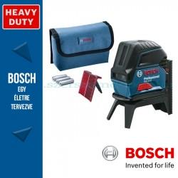 BOSCH GCL 2-15 Professional kombilézer 3 x elemmel (AA), tartozékkészlettel