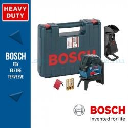 BOSCH GCL 2-15 Professional kombilézer szerszámtáskában, 3 x elemmel (AA), tartozékkészlettel